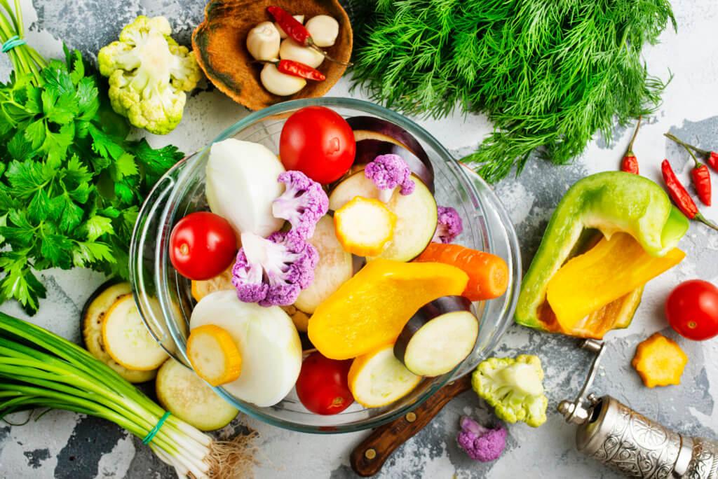 充実の野菜