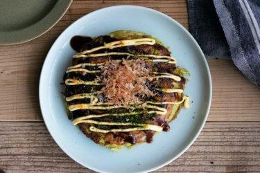 長芋と大豆粉でヘルシー♩青汁入りお好み焼き